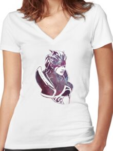 DOTA 2 - Queen of Pain Women's Fitted V-Neck T-Shirt