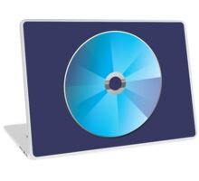 A blank CD or DVD Laptop Skin