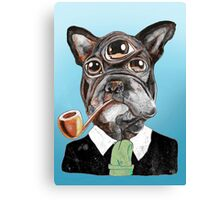 Alien French Bully Canvas Print
