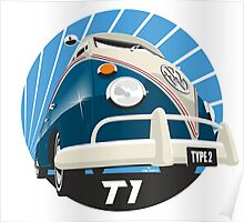VW Type 2 Transporter T1 blue Poster