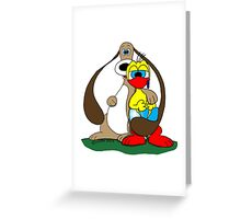 Rick the chick & Friends - Puppy Greeting Card