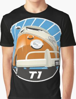 VW Type 2 Transporter T1 orange Graphic T-Shirt