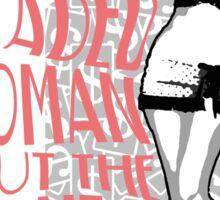 Red Headed Woman 2 tone Sticker