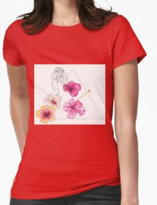 Floral feeling Womens Fitted T-Shirt