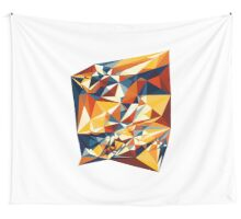 Net of multicolored triangles Wall Tapestry