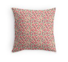 Sugar Pixel Pattern Throw Pillow