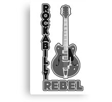 Rockabilly Rebel - monotone Canvas Print