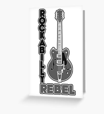 Rockabilly Rebel - monotone Greeting Card