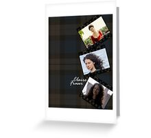 Claire Fraser on plaid Greeting Card