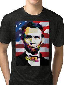 16th President of the United States Tri-blend T-Shirt