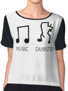 Music Vs. Dubstep Chiffon Top