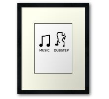 Music Vs. Dubstep Framed Print