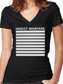 Insect Warfare - Noise Grind Power Death Women's Fitted V-Neck T-Shirt