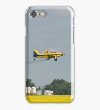 Sprayer Plane Over a Field iPhone Case/Skin