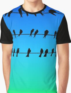 Birds on a Wire No.1 Graphic T-Shirt