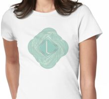 1920s Blue Deco Swing with Monogram letter L Womens Fitted T-Shirt