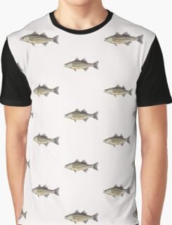 Striped Bass (Morone saxatilis) Graphic T-Shirt