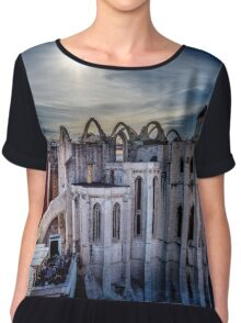 Low Sun over the centre of Lisbon  Chiffon Top