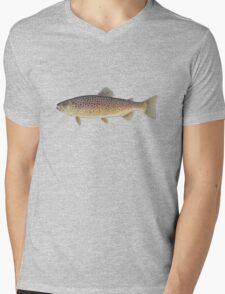 Brown Trout (Salmo trutta) Mens V-Neck T-Shirt