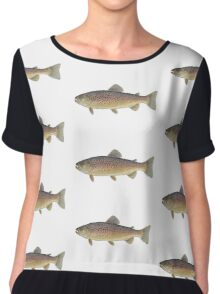 Brown Trout (Salmo trutta) Chiffon Top