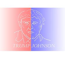 Trump and Johnson Photographic Print