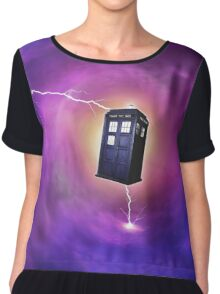 TARDIS IN A BLACK HOLE Chiffon Top