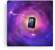 TARDIS IN A BLACK HOLE Canvas Print