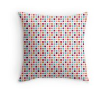 Candy Cubes Pastel Pattern  Throw Pillow