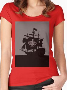 ship in the ocean Women's Fitted Scoop T-Shirt
