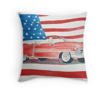 The Cadillac Throw Pillow