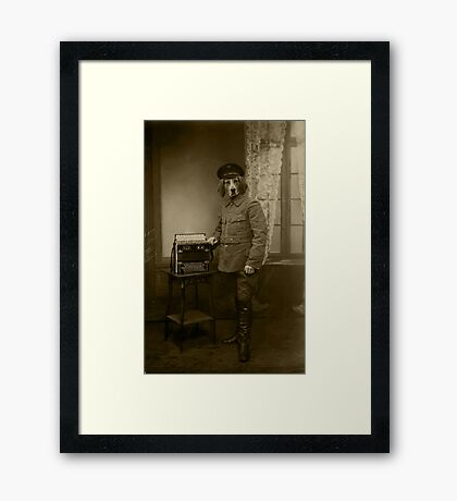 Old War Dog Framed Print