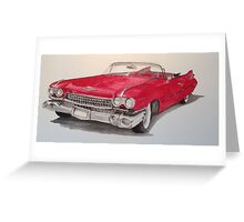 Cadillac 59 Greeting Card