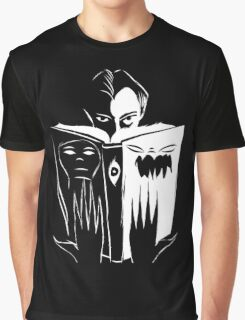 black and white book Graphic T-Shirt