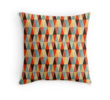 Red & Brown Geometric Triangle Pattern  Throw Pillow