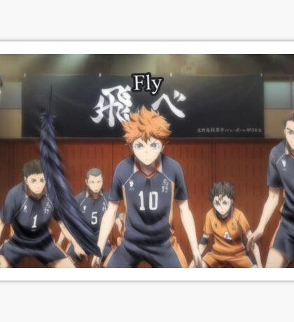 """Fly"" Haikyuu!! poster Sticker"
