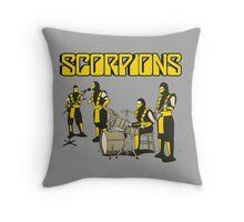 SCORPIONS - MORTAL KOMBAT ROCK BAND Throw Pillow