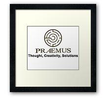 Praemus Logo and Slogan Framed Print