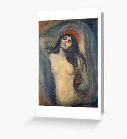 Edvard Munch - Madonna. Munch - woman portrait. Greeting Card
