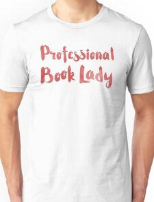 professional book lady in red watercolor Unisex T-Shirt