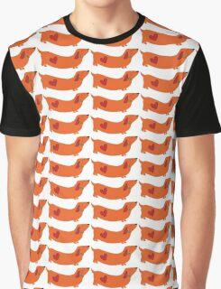 dachshund - orange Graphic T-Shirt