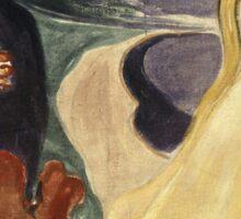 Edvard Munch - Separation. Munch - lovers. Sticker