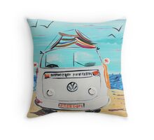 Freedom VW Kombi Van  Throw Pillow