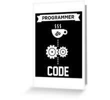 Programmer - Love Coffee Code Greeting Card
