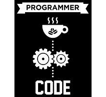 Programmer - Love Coffee Code Photographic Print