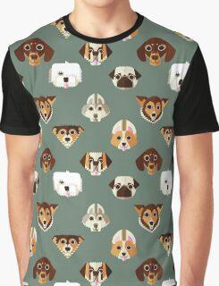 Dog pattern Graphic T-Shirt