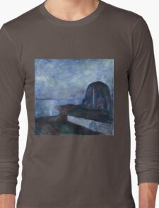 Edvard Munch - Starry Night. Munch - seashore landscape. Long Sleeve T-Shirt