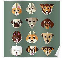 Dog pattern Poster