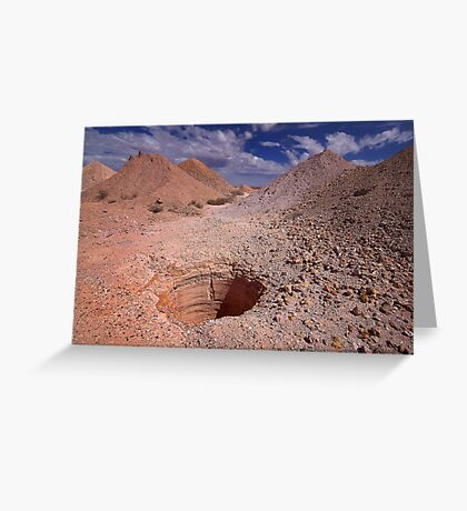 Drilling for Opal - Coober Pedy Greeting Card