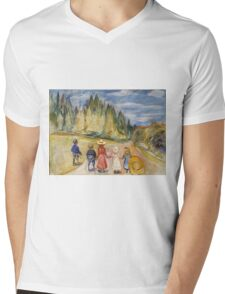 Edvard Munch - The Fairytale Forest. Munch - child portrait. Mens V-Neck T-Shirt