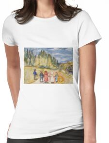 Edvard Munch - The Fairytale Forest. Munch - child portrait. Womens Fitted T-Shirt